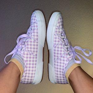 Lavender Gingham Superga Sneakers